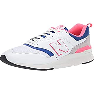 New Balance Men's 997H V1 Sneaker, White/Laser Blue, 9 D US