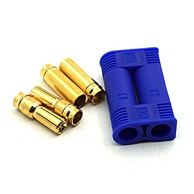 Que-T 10 Pairs EC5 Battery Connector Plugs,5mm Banana Plug Female Male Bullet Connector for RC ESC LIPO Battery Motor: Toys & Games