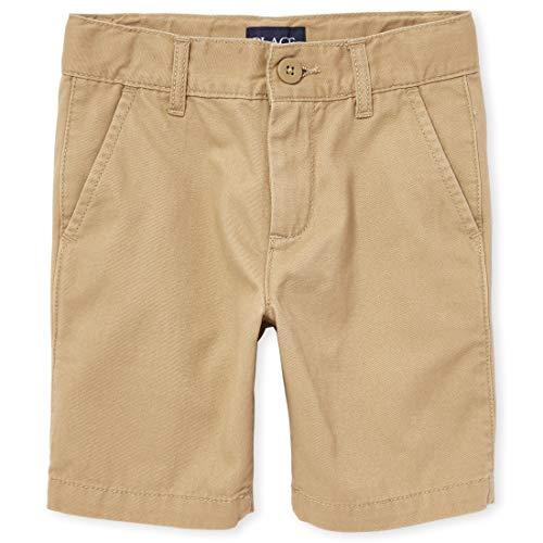 The Children's Place Boys' Uniform Chino Shorts, Flax, 8