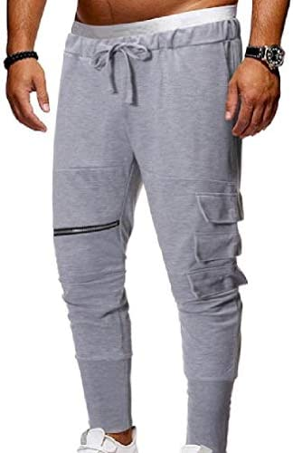 Romancly Men's Outdoor Fit Lace-up Elastic-waist Baggy Running Trousers