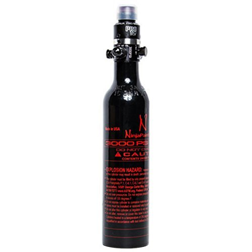 Ninja Aluminum HPA Tank - 13/3000 - PRO V2 REG (800 PSI) by Ninja Paintball