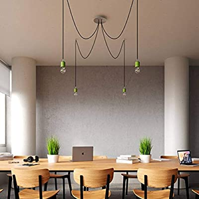 4 Holes - Large Round Ceiling Canopy Kit - Rose One System - Concrete