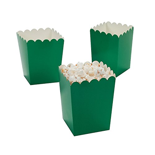 Mini Green Popcorn Boxes (24 Pack) 3