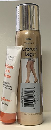 Sally Hansen Airbrush Legs With Vitamin K Light Glow 3.0 oz Plus Pedicure Cream 1.3 oz