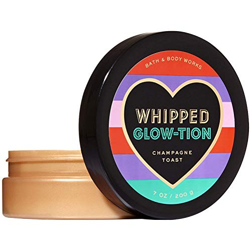 Bath and Body Works Champagne Toast Whipped Glow-Tion Amazing Body Butter 7oz ()