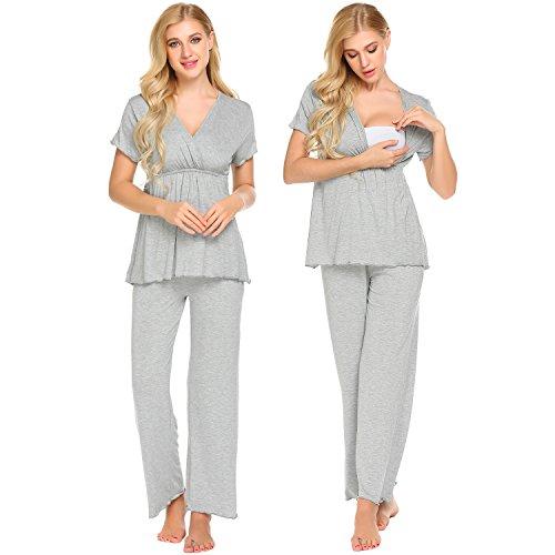 MAXMODA Womens Spring Sleepwear Ultra Soft Stays Comfy All N