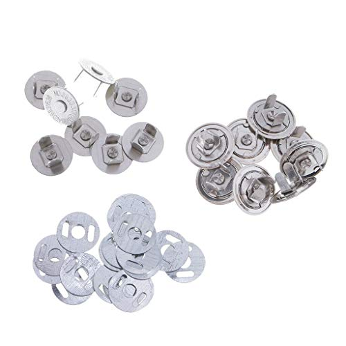 - 10 Sets 14mm+16mm Magnetic Snaps Bag Clasp Metal Button Fastener DIY Craft