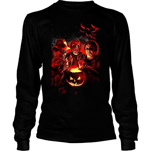 LEXIGSTORE Friday The 13Th Jason Voorhees Freddy Krueger T Shirt - Long Sleeve Tees (L, Black) ()