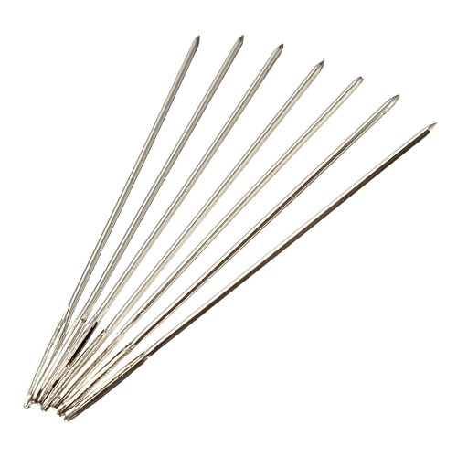 ULTNICE 100pcs Cross Stitch Needles Silver Tail Needle for 11CT Embroidery Fabric