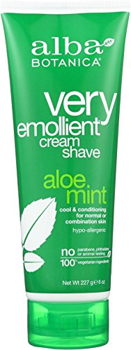 Aloe Vera Shave Cream (Alba Botanica Very Emollient Aloe Mint Cream Shave, 8 oz)