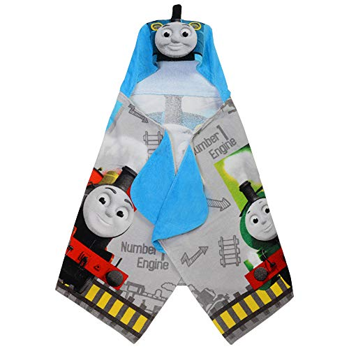 Franco Kids Bath and Beach Soft Cotton Terry Hooded Towel Wrap, 24