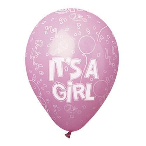 CTI Balloons latex balloons 950005 All-round Festive Its A Girl 12 Multicolor