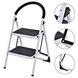 Safeplus Folding Stool Heavy Duty Industrial Lightweight 2 Step Ladder