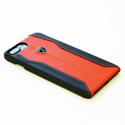 Automobili Lamborghini Huracan D1 Genuine Leather Back Case for iPhone 7 Plus/8 Plus (Orange)