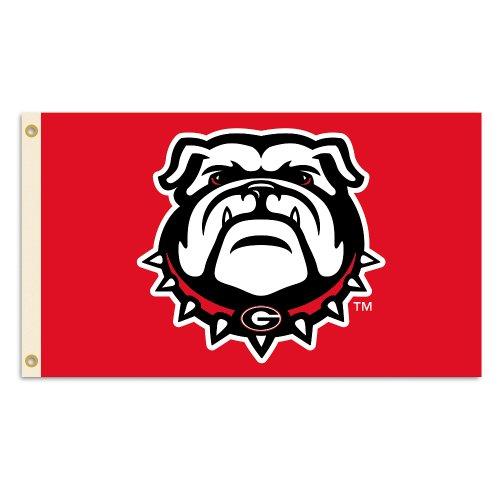 (BSI NCAA Georgia Bulldogs 3 x 5-Feet Flag with Grommets)