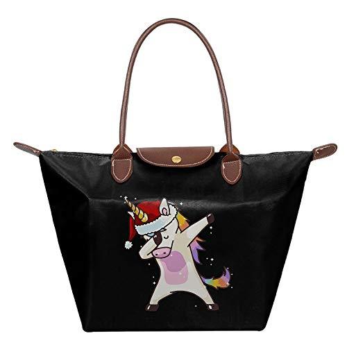 Women's Purses And Handbags, Stylish Hip Hop Unicorn Rainbow Tote Nylon Shoulder Bag For Ladies by Mk53Jy-W