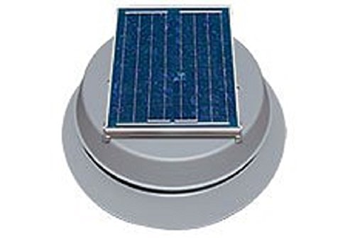 Natural Light 10 Watt Gable Solar Attic Fan - 2
