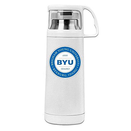 Handson Stainless Steel Vacuum Insulated Tumbler BYU Idaho Logo Insulated Thermos White 14oz/350ml (Austin Powers Ladies)