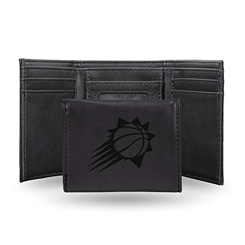 (Rico Industries NBA Phoenix Suns Laser Engraved Tri-Fold Wallet, Black)