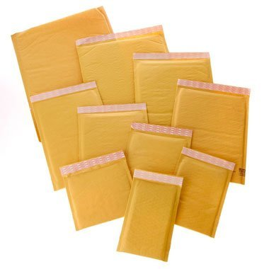 """Price comparison product image Envelope Mailers - Brown Kraft Self-Seal Bubble Mailers (9 1 / 2"""" x 14 1 / 2"""",  Quantity: 50)"""