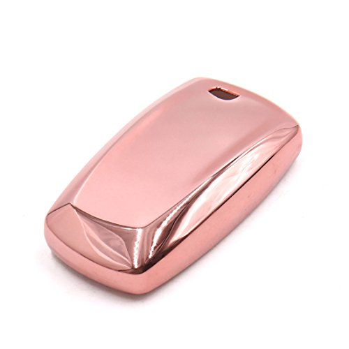 uxcell Pink Remote Key Case Holder Shell Protect Housing Cover Fit For BMW 7 Series by uxcell