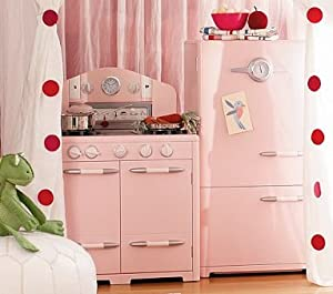 Pottery Barn Kids Pink Retro Kitchen Oven U0026 Icebox Set