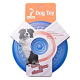 Petper Dog Flying Disc Toy, Dog Frisbees Indestructible 9 inches, Blue