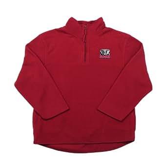 Antigua Alabama Youth 3/4 Zip Long Sleeve Pullover (X-Large, Cabernet)
