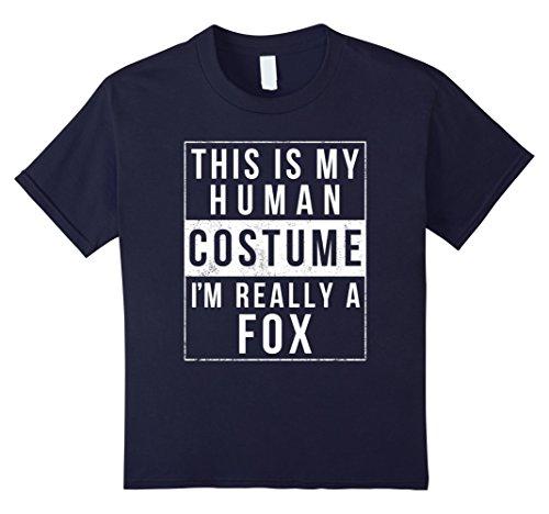 Diy Fox Costume Ideas (Kids Fox Halloween Costume Shirt Funny Easy for Kids Men Women 12 Navy)