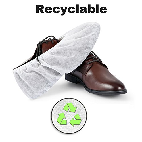 MIFFLIN Disposable Shoe Covers (White, 120 Pieces) Non-Slip Water Resistant Durable Boot Covers Shoe Protector Surgical Booties One Size Fits Most by MIFFLIN (Image #7)