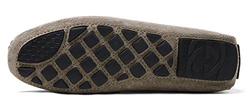 Tda Heren Comfort Vrijetijdsschip Op Lederen Handmatige Hechtdraad Loafers Grijs