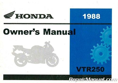 (31KV0601 1988 Honda VTR250 Interceptor Motorcycle Owners Manual)