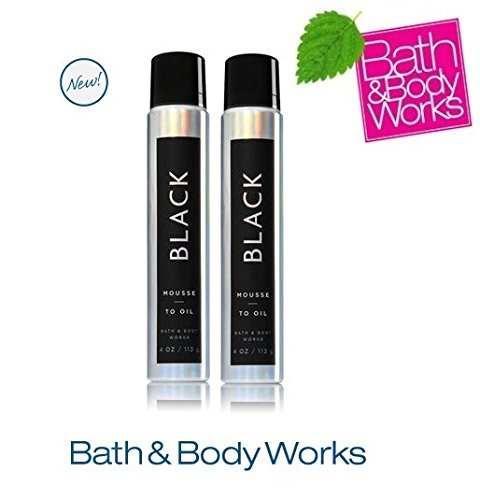 Bath & Body Works COSMIC BLACK Lot of 2 Mousse-to-Oil Full Size