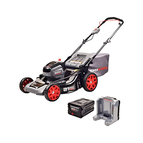 Works Power Powerworks 60V 21-inch Brushless HP Mower, 5Ah Battery and Charger Included MO60L513PW by Works Power