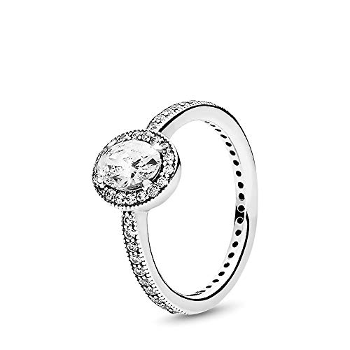 PANDORA Vintage Elegance Ring, Sterling Silver, Clear Cubic Zirconia, Size 7 (Best Deals On Your Birthday)