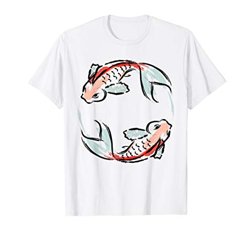 Asian Style Yin Yang Koi Fish Design TShirt