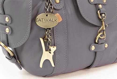 Di Borsa Catwalk Grigio In Spalla A Pelle Collection