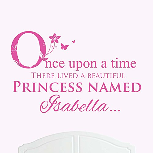 A Beautiful Princess Named Isabella Large Once Upon a Time Wall Sticker / Decal Bed Room Art Girl / Baby (Isabella Baby Furniture)