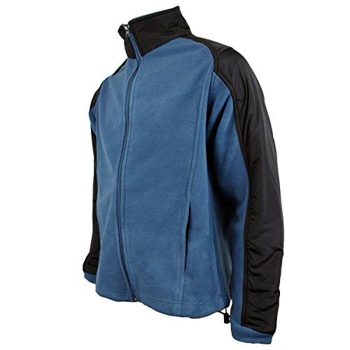 Zip Chill Teal Giacca Da Uomo Lavoro Delta In Calda Con Invernale blue Anti Pelucchi Pile 1Pq6xITdw
