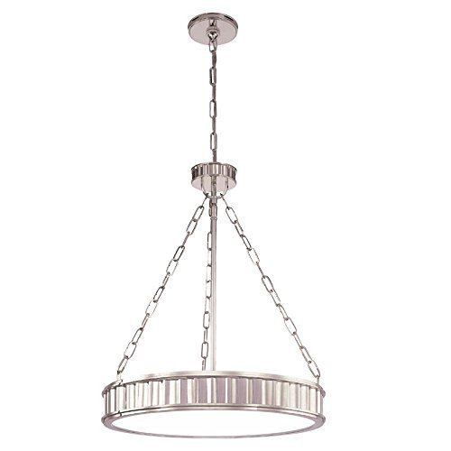 Hudson Valley Lighting Middlebury 5-Light Pendant - Polished Nickel Finish with Clear/Frosted Glass Shade by Hudson Valley Lighting (Middlebury Pendant Lighting)