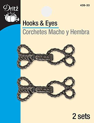 Eyes Rope Design Gunmetal Hook & Eye Closures ()