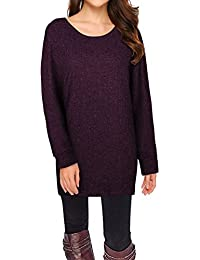 "<span class=""a-offscreen"">[Sponsored]</span>Women's Long Batwing Sleeve Pullover Loose Casual Knitted Sweater"