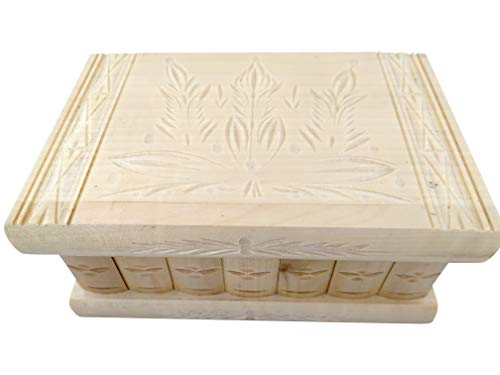- Handmade Wooden Puzzle Jewelry Box from Kalotart. One of a Kind Magic Case with Hidden Key & Removable Compartments. Stunning, Beautiful, Impressive Gift. Like Those Prized by European Royalty Natural