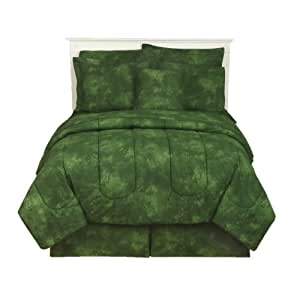 Rain Forest Green - Comforter - Queen