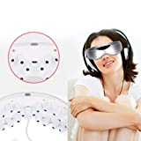 LPY-Eye Massager Electric Wireless Infrared Gesture Control Magnet Stone 9 Modes Vibration Eye Care Stress Relief
