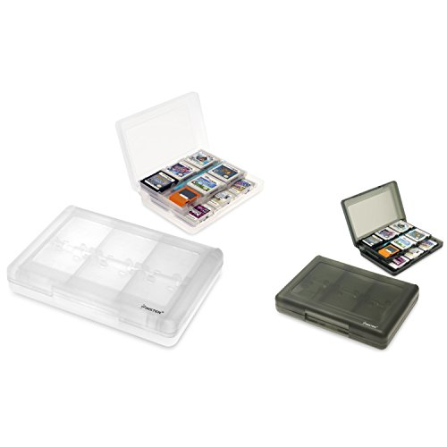 Insten 2-PCS [1 x White + 1 x Black] 28-in-1 Game Card Case for Nintendo NEW 3DS / 3DS / DSi / DSi XL / DSi LL / DS / DS Lite / 3Ds Cartridge Storage Solution Box