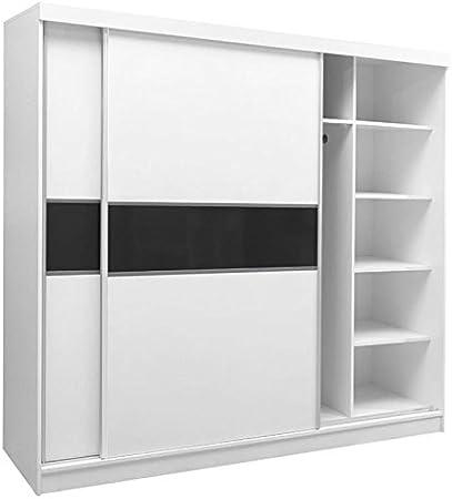 Armario/armario Bermeo 02, color: blanco/negro – 220 x 240 x 65 cm (H x B x T): Amazon.es: Bricolaje y herramientas