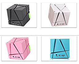 JIESLINK Hi-Fi Portable Bluetooth Stereos Magic Cube Speaker Ambient Lighting SoundBox For all Bluetooth Enable Devices - TF Card Support / Build-in FM Radio / Touch Control,Blue