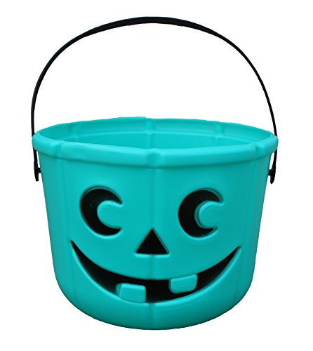Allergy Superheroes Teal Pumpkin Candy Bucket from Our Food Allergy Family to Yours]()