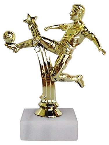 Trofeo futbolista chutando Eurocebrian